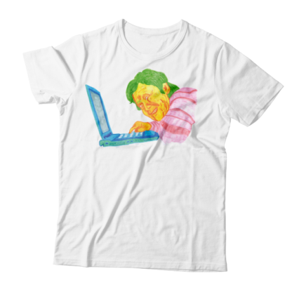 Camiseta con dibujo hecho a rotulador - humor visual